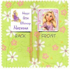 20 personalizzata Disney Princess Raperonzolo contorte Cup Cake Bandiera Topper Compleanno