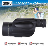 10-30X50 HD Zoom Telescope Anti-fog Rangefinder for Birdwatching Hunting Concert