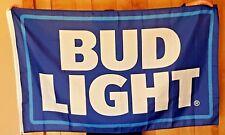 Budweiser Bud Light Beer Flag 3' X 5' Deluxe Indoor Outdoor Banner man cave bar