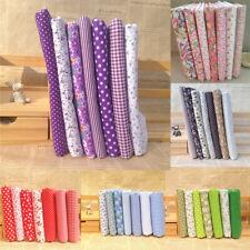 BT_ 7Pcs/Set Series Assorted Floral Pre-Cut Fat Quarters Bundle Charm Cotton Fab