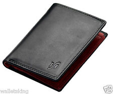 STARHIDE DESIGNER MENS LUXURY BLACK RED LEATHER WALLET WITH ZIP POCKT #815