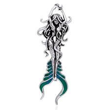 Sea Mermaid of Atlantis Sterling Silver Slide Pendant by Selina Fenech