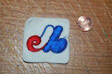 "Montreal Expos 1969-2004 Alternate Logo 2"" Square Felt Patch Baseball"