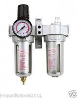 "3/8"" AIR REGULATOR CONTROL UNIT FILTER LUBRICATION AIR COMPRESSOR WATER TRAP"