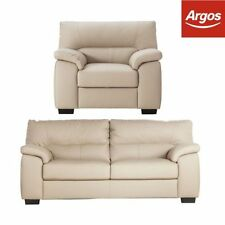 Unbranded Leather Three Seater Sofa Furniture Suites