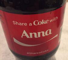 Share a COKE with Anna 20 fl oz Collectible Bottle Rare Coca-Cola 10/26/15