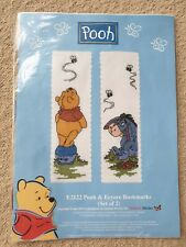 Pooh E2122 Pooh & Eeyore Bookmarks Counted Cross Stitch Kit