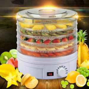 Electric Food Dehydrator 5 Trays Fruit Dryer Drying Machine Meat Beef Dryer