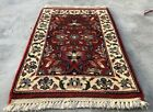 Authentic Hand Knotted Vintage Indo Wool Area Rug 2 x 1 Ft (2917 KBN)