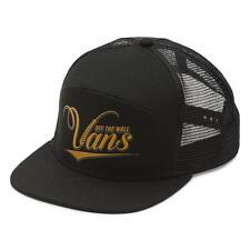 Vans Off The Wall Suds 6 Panel Black Trucker Snapback Hat Mens New NWT