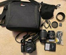 Nikon D3300 Dslr Digital Camera 24.2 Mp w/ 3 Lenses & Accessories