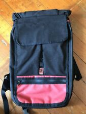 Chrome Waterproof weatherproof Soyuz Rolltop Backpack Laptop Bag Black Red