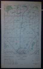 1940's Army topographic map Batavia North  New York -Sheet 5370 II SW