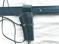 Smooth Leather Holster and Belt Hand Made Smooth Leather Set Two(2) Pieces 70202