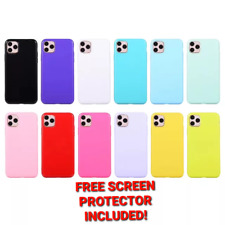 Apple iPhone 4, 5, 6, 7, 8 Plus, XS, SE, 11 PRO MAX Shockproof Glossy Slim Case