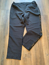 Unbranded Black Trousers Sequinned Sides Size 22