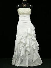 Cherlone White Long Ballgown Wedding Evening Formal Bridesmaid Dress Size 16-18