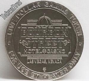 $5 SLOT TOKEN COIN BOURBON STREET CASINO 1996 GDC MINT LAS VEGAS NEVADA RARE