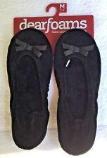 DEARFOAMS Plush Ballet Slippers Med US 7  8  Foam Cushioned Black Soft Velour