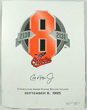 Vintage 1995 Cal Ripken Jr Orioles Baseball Limited Edition Watcher Photo Set
