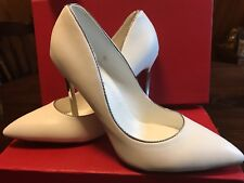 White Wedding Shoes with silver heels: stilettos by MiDiTu, size 7