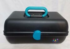 Caboodle Make-up Case Organizer with MIrror 1980's Retro, Black  Large Vintage