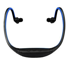 New Sport MP3 Player Running Blue Neckband Headset Headphone 32GB Micro SD TF