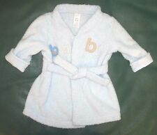 """0-9 month boys light blue Carter's """" BABY """" robe for after swim or after bath"""