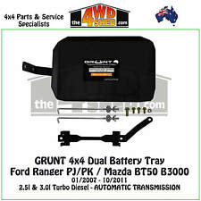 Grunt 4x4 Dual Battery Tray fit Ford Ranger PJ PK Mazda BT50 B3000 Auto 2007-11