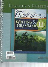 Writing/Grammar 11 Teacher's Edition  (Paperback, Revised) Book 2