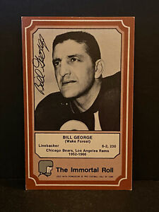 Signed Bill George Card HOF AUTOGRAPH Chicago Bears CERTIFIED AUTO