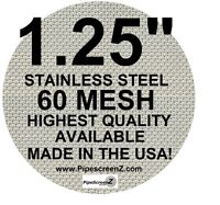 """(50+)  1 1/4"""" STAINLESS STEEL 60 mesh PIPE SCREENS PipescreenZ™ -MADE IN THE USA"""