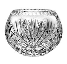 "Barski European Hand Cut Majestic Crystal Rose Bowl, 12""Diameter-Made in Europe"