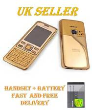 NOKIA BRAND  6300 GOLD NEW CONDITION UNLOCKED CAMERA BLUETOOTH CLASSIC PHONE