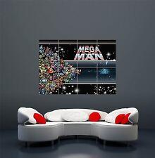 MEGA MAN Computer Videogioco Retrò PC Gigante Arte Poster Stampa wa492