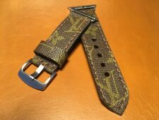 Handmade Up cycled Custom LV Monograme Apple watch strap For 42/44mm Watch