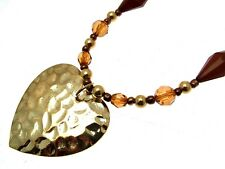 Beaded Heart Necklaces Design 12721 Heart Beaded Gold Necklaces Orange