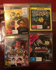 PS3 Games - Resident Evil 5 + Bio Shock + Street Fighter IV + Tekken Tag 2