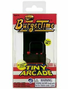 Tiny Arcade Burger Time Brand New Sealed In Pack Smallest Coolest Keychain
