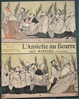 L'Assiette au Beurre #245 - Les Martyrs - 1904 French Anti-Church Satire Art