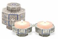 Travel Shabbat Candlesticks - Jerusalem Candle Holders - Judaica Art
