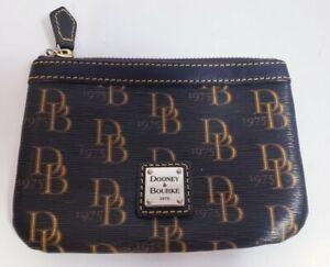 Dooney and Bourke Women's Brown Coated Canvas Monogram Zip Clutch Wallet!