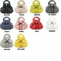 Ladies 0073 Tripple Zipped Sections Bow Detail Women Grab Hand Bags Ladies Cross