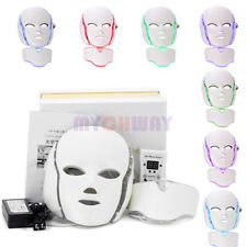 7 Colors PDT Photodynamic Facial Skin Care Spa LED Photon Face Neck Mask Antiage