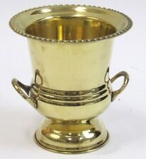 """SOLID BRASS Decorative Cup Urn Vase ICE BUCKET WINE COOLER 7"""" Home Bar DECOR New"""