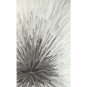 Haydon Geometric Cowhide Handmade Gray Area Rug