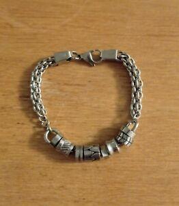 "Storm London Stainless Steel Bead / Charm Style Bracket 23cm / 9"""
