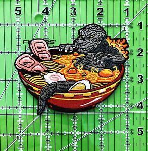 """4"""" Godzilla Ramen Bowl Iron on/Sew on Patch"""