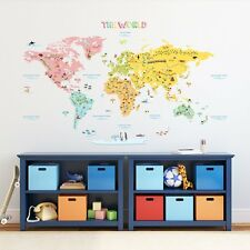 World Map Wall Decal Mural Sticker DIY Art Removable Vinyl Home Decor Stickers