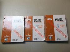 1998 J Platform (Cavalier and Sunfire) Shop Service Manual Set- 2nd Edition